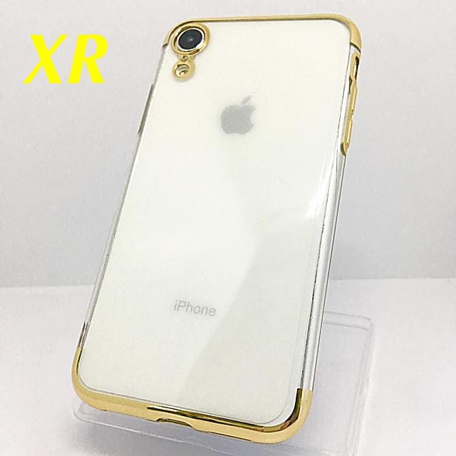 アイフォンXR iPhoneXRクリアケース☆ゴールド☆送料無料☆父の日の通販 by ロゴ's shop|ラクマ