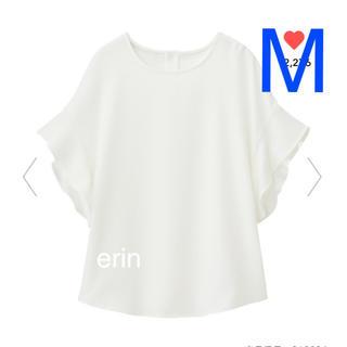 ジーユー(GU)のジーユー GU フレアスリーブブラウス 半袖 大型店限定アイテム ホワイト M(シャツ/ブラウス(半袖/袖なし))