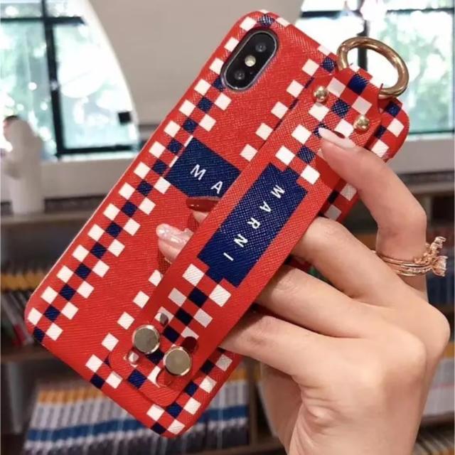 dior アイフォーンx ケース | Marni - iPhoneケース ベルト付きの通販 by coco♡'s shop|マルニならラクマ