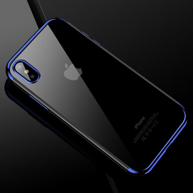 iphone8 ケース mynus 、 アイフォンX/XS iPhoneX/XSクリアケース☆ブルー☆送料無料☆父の日の通販 by ロゴ's shop|ラクマ