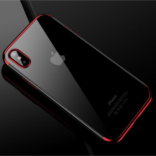 Armani アイフォン8 ケース 、 アイフォンX/XS iPhoneX/XSクリアケース☆レッド☆送料無料☆父の日の通販 by ロゴ's shop|ラクマ
