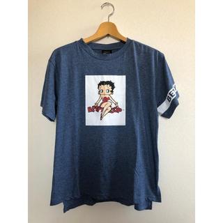 シマムラ(しまむら)のベティブープ BettyBoop Tシャツ インディゴ デニム LL 新品未使用(Tシャツ(半袖/袖なし))