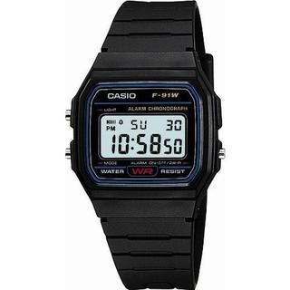 カシオ(CASIO)の日常生活防水 LEDライトつき 新品 カシオ ウォッチ腕時計 F-91W-1JF(腕時計(デジタル))