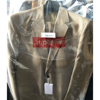 Supreme - Supreme Plaid Suit タン L