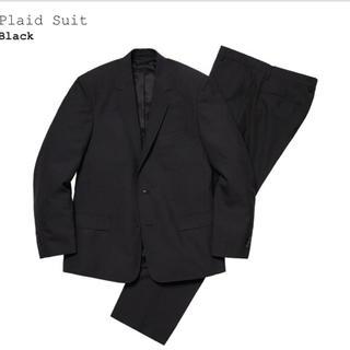シュプリーム(Supreme)のsupreme plaid suit シュプリーム スーツ 黒 S 30 新品(セットアップ)