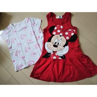 女の子100㎝ 2枚セット Tシャツ ワンピース