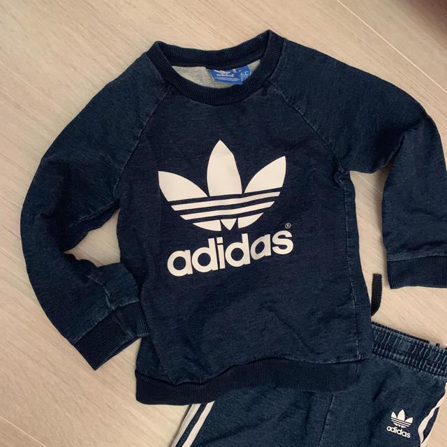 adidas(アディダス)のadidasoriginals デニム風セットアップ キッズ/ベビー/マタニティのキッズ服 男の子用(90cm~)(パンツ/スパッツ)の商品写真