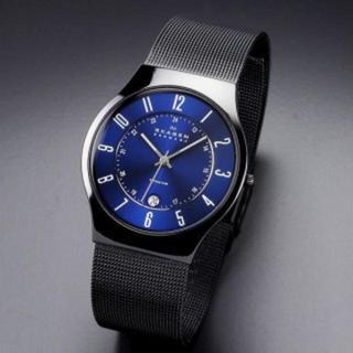 スカーゲン(SKAGEN)のスカーゲン★メンズ腕時計★T233XLTMNブラック&ブルー(腕時計)
