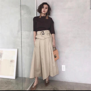 Ameri VINTAGE - BELTED CHINO SKIRT スカート