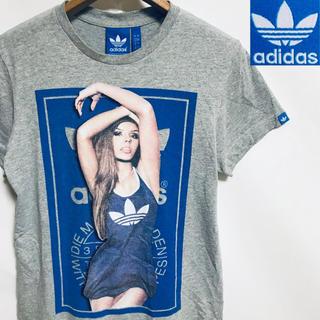 美品!adidas アディダス トレフォイルロゴ  セクシーガール Tシャツ