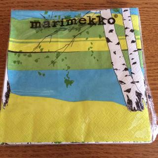 マリメッコ(marimekko)のマリメッコ ペーパーナプキン 15枚 メッセージカードおまけ付き(雑貨)