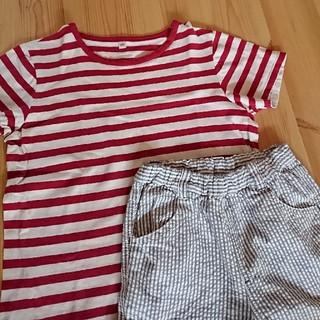 MUJI (無印良品) - MUJI 無印良品  男児  130  Tシャツ  半ズボン セット