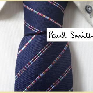 Paul Smith - 大人気★ポールスミス★【マルチカラー入りストライプ】高級ネクタイ★