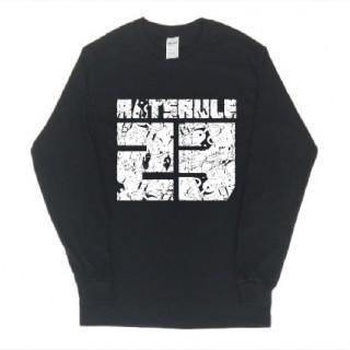23番号イラスト ロゴ長袖  ロングTシャツ git18(Tシャツ/カットソー(七分/長袖))