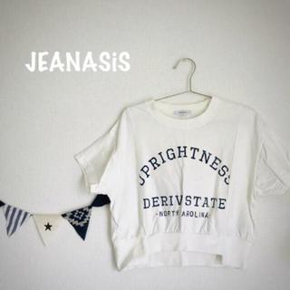 JEANASIS - ジーナシス カレッジロゴTシャツ新品