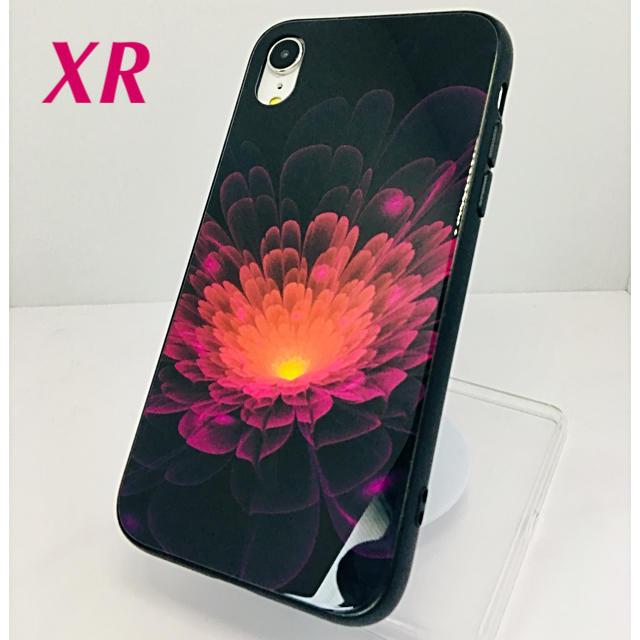 アイフォンXR iPhoneXRケース☆紫色☆夜光☆花柄☆送料無料の通販 by ロゴ's shop|ラクマ