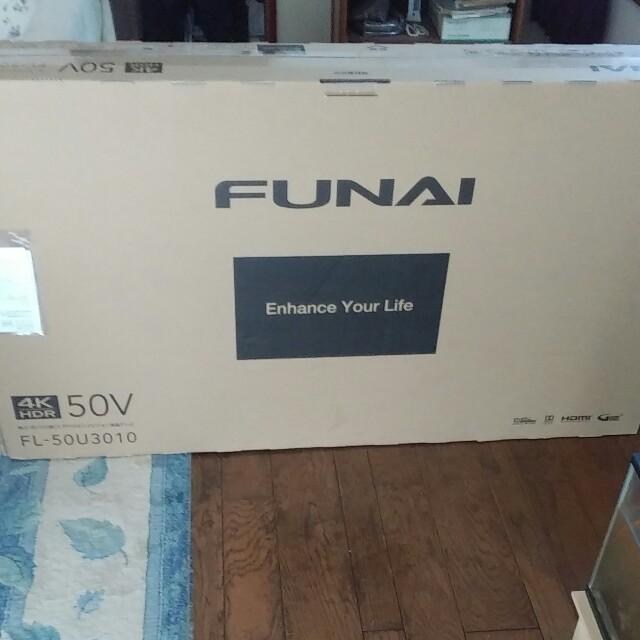 フナイ FL-50U3010 50V型 地上・BS・110度CSデジタル 4k スマホ/家電/カメラのテレビ/映像機器(テレビ)の商品写真
