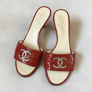 afcff77b4f14 シャネル 靴/シューズ(レッド/赤色系)の通販 100点以上 | CHANELの ...