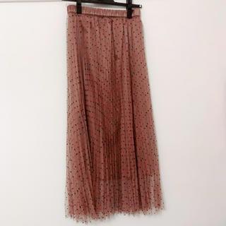 ココディール(COCO DEAL)の[美品]ココディール ドット柄 チュールプリーツスカート(ロングスカート)