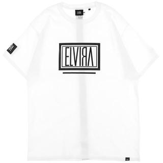 ELVIA - 登坂広臣着用 ELVIRA box logo Tee white
