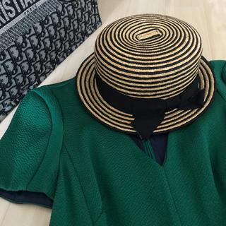 メゾンドリーファー(Maison de Reefur)の メゾンドリーファー 完売 ボーダー麦わら帽子(麦わら帽子/ストローハット)