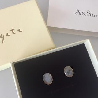 agete - 新品 現行品 K10 ラブラドライト ピアス
