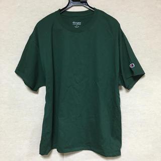 チャンピオン(Champion)の新品 Champion 半袖Tシャツ ダークグリーン L(Tシャツ/カットソー(半袖/袖なし))