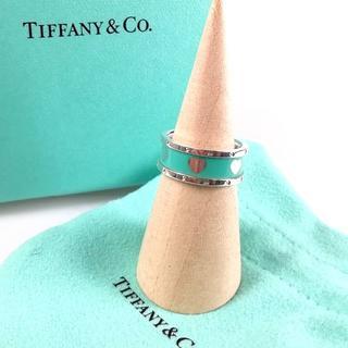 ティファニー(Tiffany & Co.)の希少 美品 ティファニー ブルー ハート シルバー リング UI62(リング(指輪))