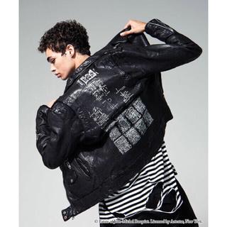 グラム(glamb)の新品 グラム glamb バスキア ライダース 黒 ブラック S M size①(ライダースジャケット)
