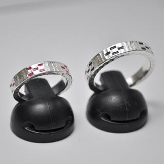 ★沖縄 ミンサーペアリング silver925 フリーサイズ★(リング(指輪))