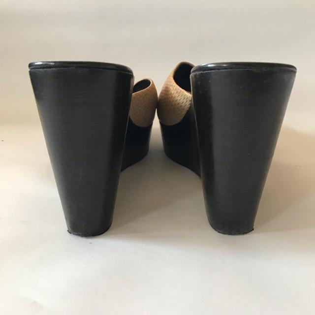 K様専用 STUDIO POLLINI ミュール 型押しレザー レディースの靴/シューズ(ミュール)の商品写真
