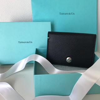 ティファニー(Tiffany & Co.)の未使用★Tiffany&Co. 名刺入れ ヴァーティカルフォ-ルド カードケース(名刺入れ/定期入れ)