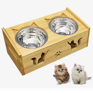 1134 キャットボウル 猫食器 スタンド 小型犬えさ皿 食台 猫用フード