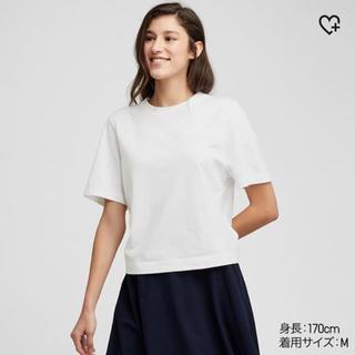 ユニクロ(UNIQLO)のクロップドクルーネックT(Tシャツ(半袖/袖なし))