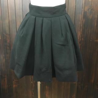 ジーヴィジーヴィ(G.V.G.V.)のgvgvチュール付ふんわり黒スカート36(ひざ丈スカート)