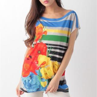デシグアル(DESIGUAL)の新品♡定価8990円 デシグアル ♡マルチ 半袖Tシャツ M or XL サイズ(Tシャツ(半袖/袖なし))