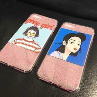 iPhoneケース かわいい 少女 女性イラスト新品(iPhoneケース)