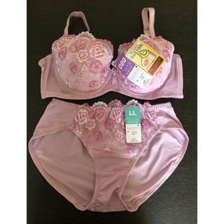 ブラジャー&ショーツ  D80  LL  ピンク(ブラ&ショーツセット)
