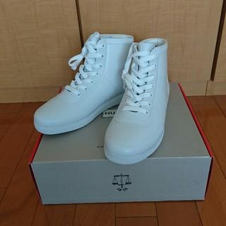 ハンター(HUNTER)の新品 HUNTER ラバーハイカットスニーカー ホワイト 4(23)(レインブーツ/長靴)