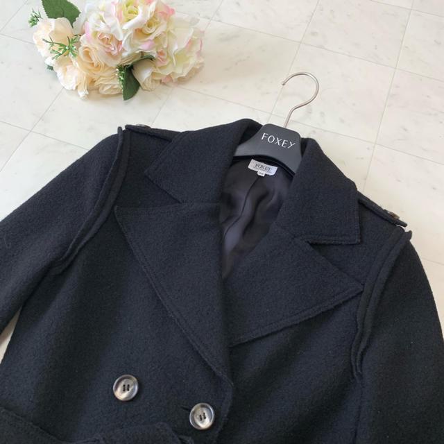 FOXEY(フォクシー)の♡美品♡FOXEY フォクシー ベルト付き ジャケット コート 38 レディースのジャケット/アウター(テーラードジャケット)の商品写真