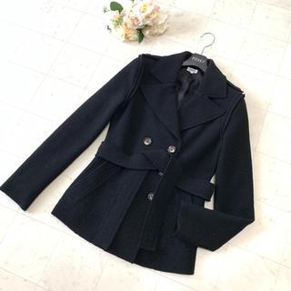 フォクシー(FOXEY)の♡美品♡FOXEY フォクシー ベルト付き ジャケット コート 38(テーラードジャケット)