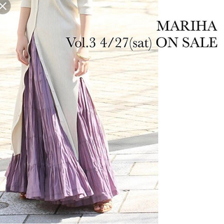 デミルクスビームス(Demi-Luxe BEAMS)のマリハ 草原の虹のスカート パープル サイズ8(ロングスカート)