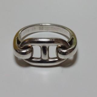 エルメス(Hermes)のエルメス シェーヌダンクル シルバーリング☆シャネル ヴィトン グッチ プラダ(リング(指輪))