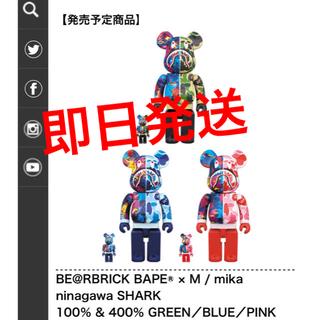 メディコムトイ(MEDICOM TOY)のBE@RBRICK BAPE®×M/mika ninagawa SHARK(その他)