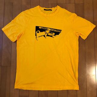 ルイヴィトン(LOUIS VUITTON)のルイ・ヴィトン  Tシャツ 半袖  メンズ  イエロー(Tシャツ/カットソー(半袖/袖なし))