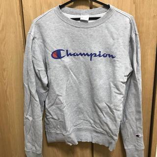 チャンピオン(Champion)のチャンピオン トレーナー スウェット グレー 灰色 ロゴ 長袖 Mサイズ 美品(スウェット)