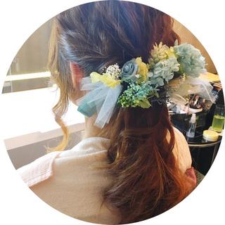 プリザーブドフラワー髪飾り ヘッドドレス(ヘアアクセサリー)