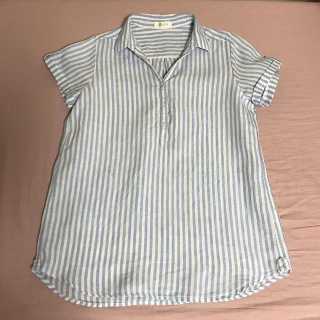 ベルメゾン(ベルメゾン)のリネン 半袖シャツ レディースのトップス(シャツ/ブラウス(半袖/袖なし))の商品写真