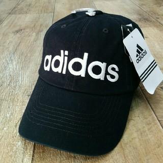 アディダス(adidas)の新品 ビッグロゴadidasキャップ ブラック(キャップ)