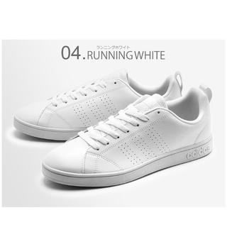 アディダス(adidas)の🔴23.5㎝ ホワイト×ホワイト⦅他サイズ22〜32㎝⦆【🔵返品無料】(スニーカー)